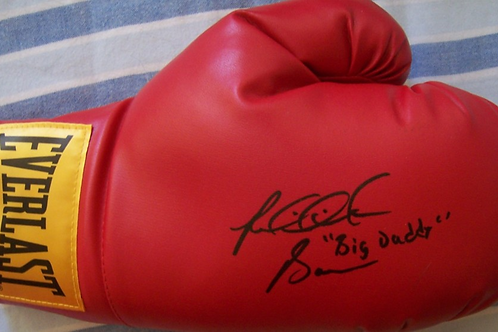 Boxing glove signed