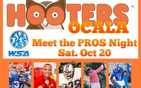 Hooters Hosts WSA North Central FL Expansion Event: Meet the Pros Night!