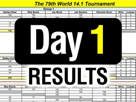 DAY 1 Results - 79th World 14 1 Bracket - 12-2-19 - Round Robin scores