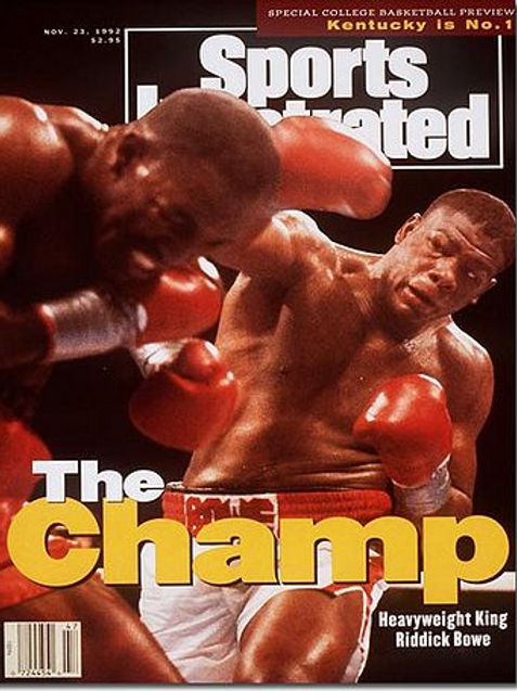 personalized to your name Autographed Riddick Bowe magazine cover photo