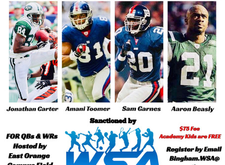 WSA NYC Branch: Sam Garnes Football Camp with Amani Toomer, Ron Dixon, Aaron Beasly, Jonathan Carter