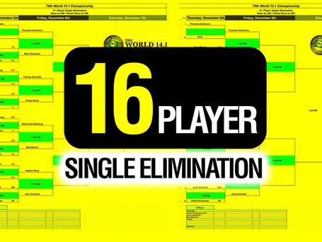 16 Player Single Elimination - 79th World 14.1