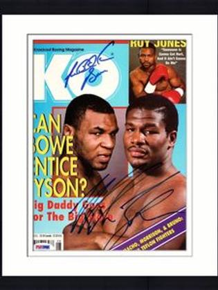 Magazine cover Bowe/Holyfied signed