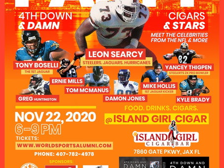 LEON'S BOOK LAUNCH PARTY at Jaguars Stadium & Island Girl Cigar