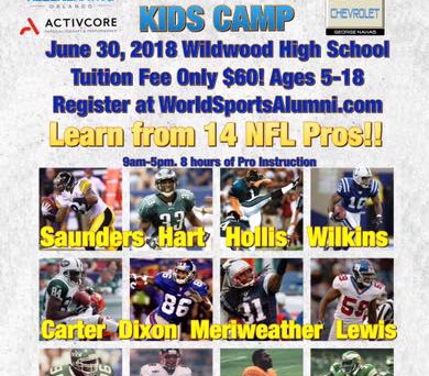 Sullivan Buick GMC 1st Ron Dixon NFL Pros Kids Camp in Wildwood FL
