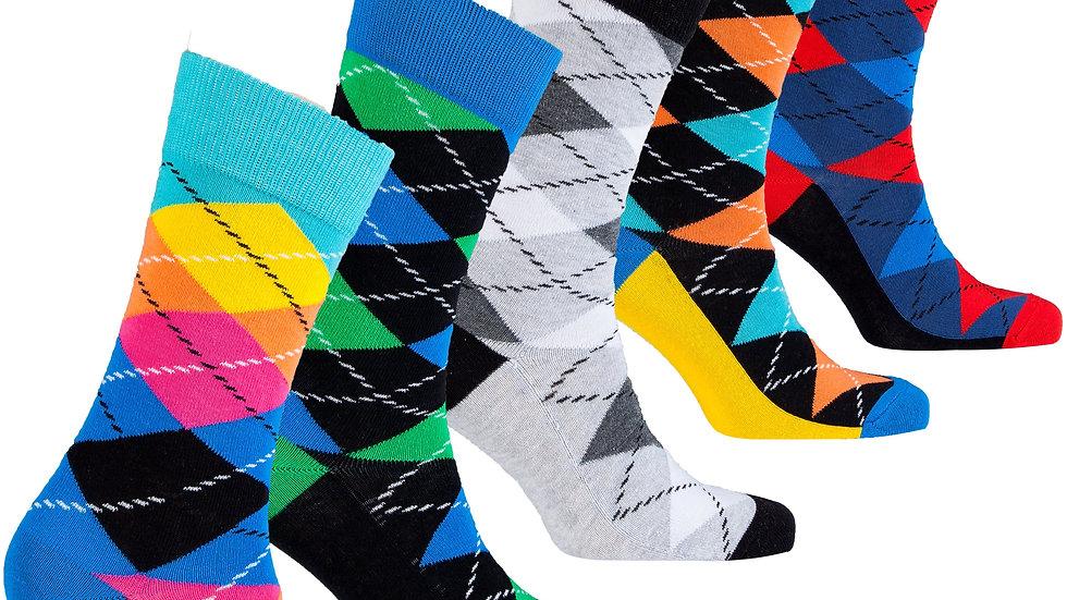 Men's Funky Argyle Socks