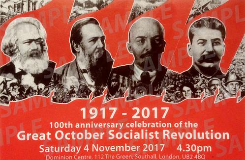 October Revolution 100th Anniversary Ticket   Proletarian Online ...