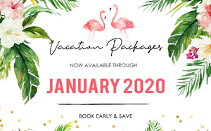 Vacation packages available thought 2020