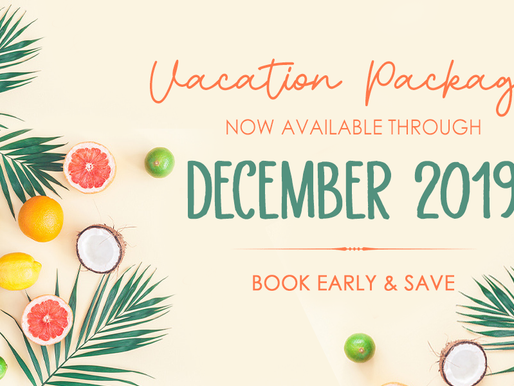 December 2019 Vacation Packages Released!