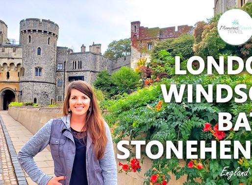 London, Windsor, Bath, & Stonehenge • England | Travel Vlog