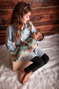 Sister and Newborn