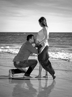 Maternity on the Beach with Husband Photography