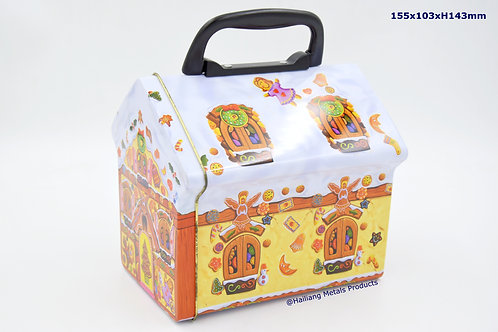 House Shape Lunch Box with Hinged Lid