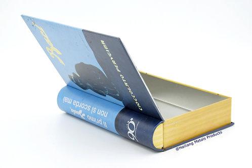 Book Shaped Hinged Tin Box