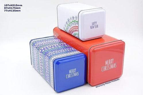 Rectangular Christmas Design Set Container