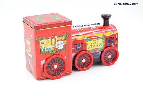 Christmas Train with Movable Wheels