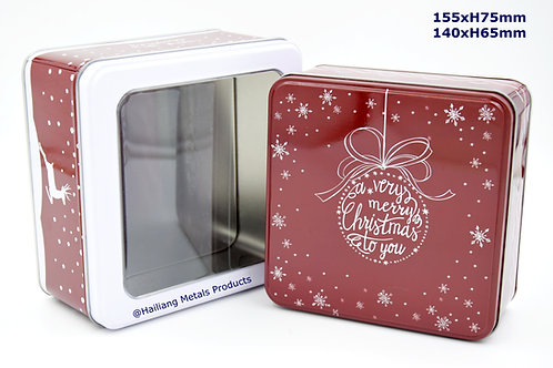 Chritmassy Design Tin Box, Storage Tin, 2pcs/set