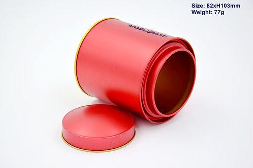 中国红单色茶叶罐