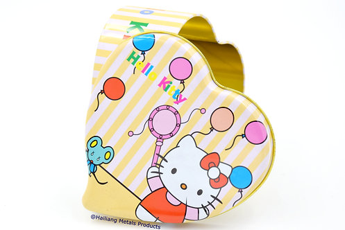 Hello Kitty Heart Shaped Tin Box