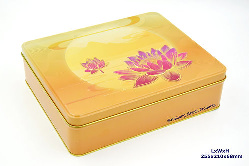 Embossed Mooncake Packaging Tin Container