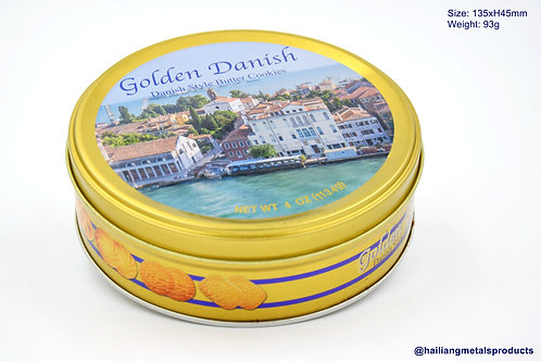 3D Design Golden Danish Cookie Packaging