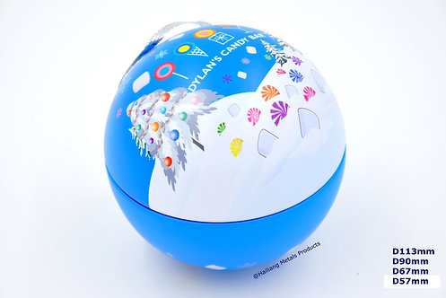 Ball Shaped Tin Packaging