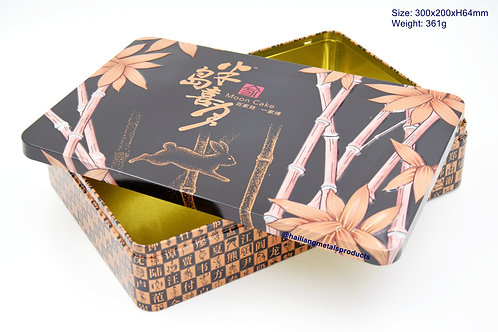 金竹玉兔月饼盒