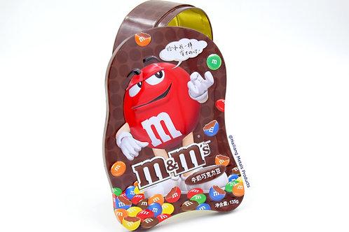 M&M Chocolate Tin Box, Costom Tin Container, Tin Box for Food