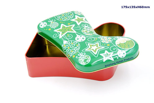 Christmas Stocking Tin Container