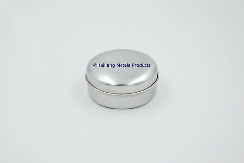 Small Aluminum Round Container with Lid
