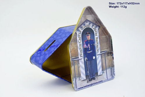 Prague Castle Guard Czech Republic House Shape Money Pot