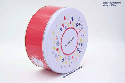 Chic Design Christmas Round Container