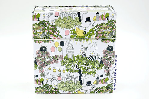 Moomin Design Rectangular Tin Container