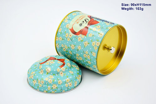 Vintage Design Tea Storage Tin