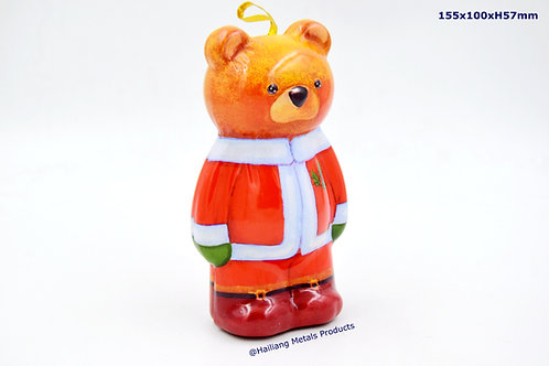 Bear Shaped Christmas Tin Container