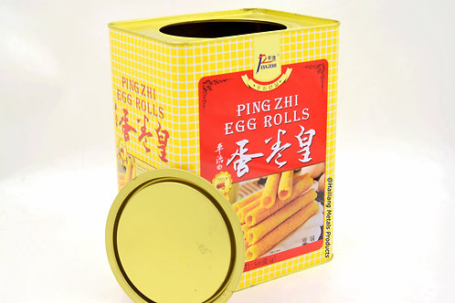 Typical Egg Roll Rectangular Tin Container