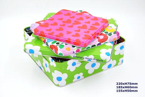 Lovely Design Square Set Container 3pcs/set