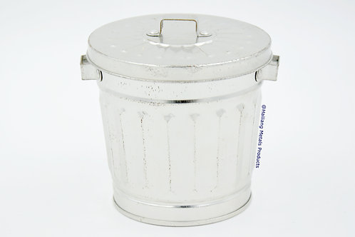 Plain Bucket Shaped Container with Hinged Lid