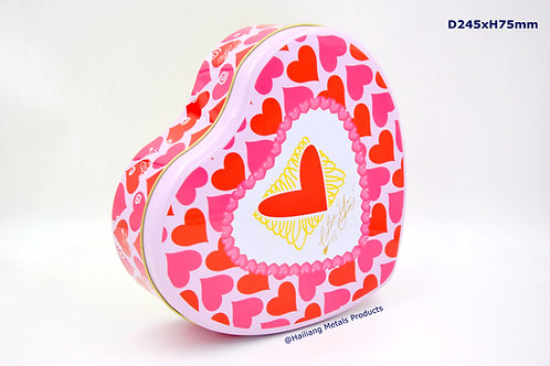 Valentine Gift Box, Heart Shaped Tin Container