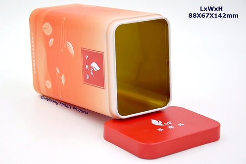 Rectangular Tea Packaging with Lid