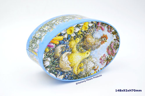 Ellipse Easter Packaging Tin with Lid