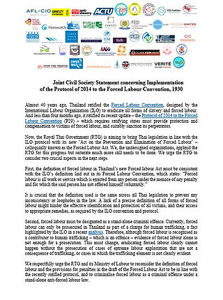 Joint Civil Society Statement Concerning