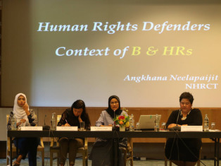 Experts informing the CSO NBA during 'First Experts Meeting on BHR in Thailand'