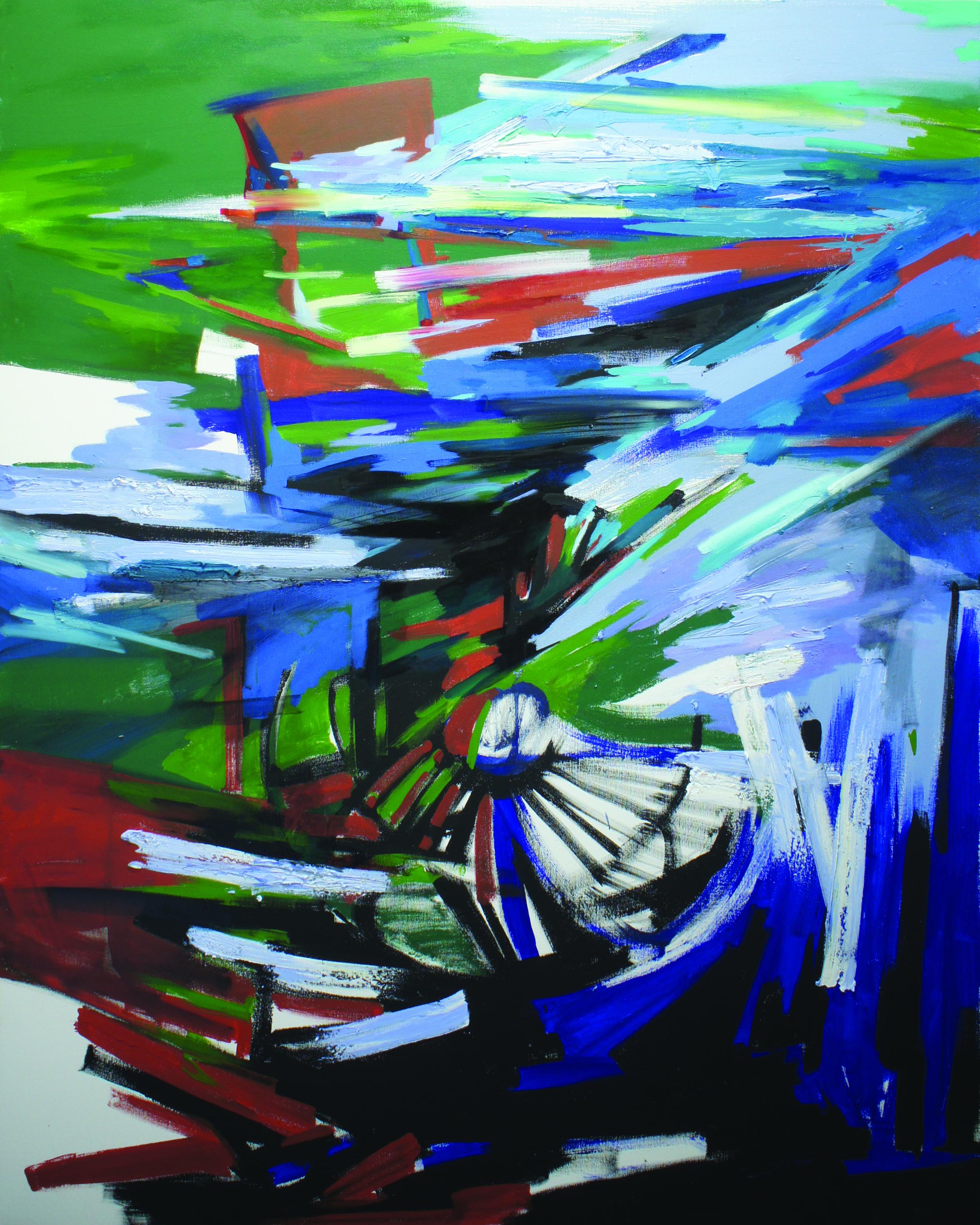 Massive Flooding No. 3, 2011, acrylic and oil on canvas, 150 X 120 cm..JPG
