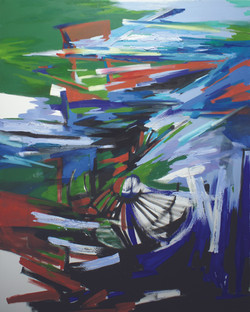 Massive Flooding No. 3, 2011, acrylic and oil on canvas, 150 X 120 cm..JPG