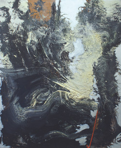 Objects and Life no.2, oil, acrylic, and feather duster on wood, 120 x 100 cm., 2011.JPG