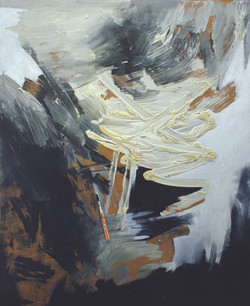Objects and Life no. 1, oil, acrylic, and toothbrush on wood, 120 x 100 cm., 2011.JPG