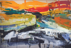 Massive Flooding No. 1, 2011, acrylic, oil, enamel and crayon on canvas, 270 X 400 cm..JPG