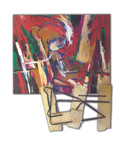 Inspiration from Three Closets No.3, 2011, acrylic, oil, wood,  and metal on canvas , 180 x 150 cm..