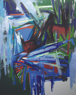 Massive Flooding No. 4, 2011, acrylic and oil on canvas, 150 X 120 cm..JPG